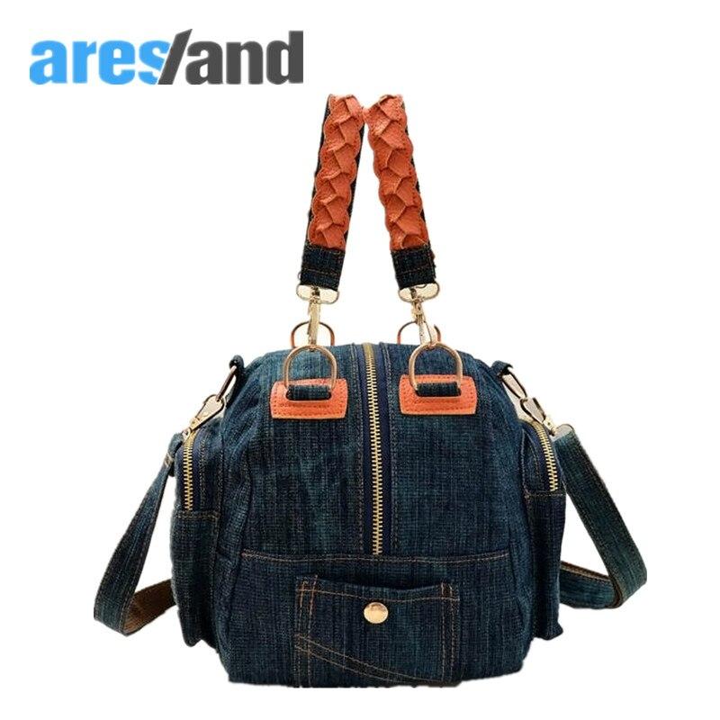 Aresland New arrival Multifunction Canvas Denim women Handbag Crossbody Bag Shoulder Bag for girls<br><br>Aliexpress
