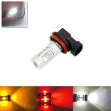 One Piece 30W High Power Auto Car Front Fog Replacement Bulbs Direct Fit For H8 PGJ19-1/ H11 PGJ19-5 White Red Amber Color(China)