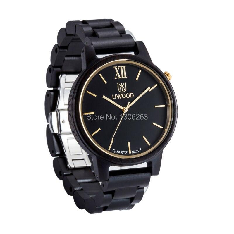 NEW ARRIVAL Top Brand Luxury Men Wood Watch Rare Slim Brand Designer Men Wooden Watch With Gift Box<br>