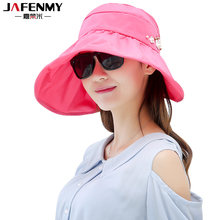 Sun Hats for women summer wide brim beach hat packable sun visor hat with big  heads fishing UV protection outdoor female caps 31a89a073eaa