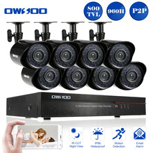OWSOO 800TVL Outdoor Security Camera System Full 960H/D1 8CH DVR CCTV kit  HDMI P2P 8pcs Waterproof IR CUT CCTV Cameras Set