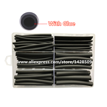 120pcs heat shrink tubing with glue 3:1 Shrink the shrinkable tube with glue Cable Wire black Waterproof Wrap Wire