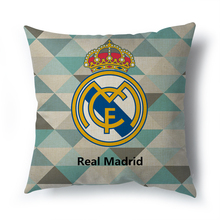 Hot sell Manufacturers wholesale Madrid real betis decorative cushion cover for sofa car living room zaragoza pillowcase 45x45CM