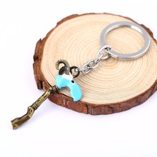 10pcs/lot Game Series DOTA 2 Evil Keychain Scythe of Vyse Sheep Dragon Claw Hook Key Rings Men Jewelry HC11098(China)