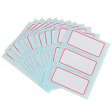 12sheets/pack self adhesive label Blank post it note label Bar sticky white writable name stickers 34*73mm(China)