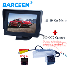 "Car display monitor 4.3"" and auto car rear view camera waterproof kit to sell at favorable price apply for Mazda 6 2009(China)"