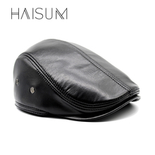 Buy 2018 Time-limited Special Offer Solid Haisum Genuine Leather Men's Cap Popular Cap/hat Fashion Winter Adult Chapeau Cs19 for $8.71 in AliExpress store