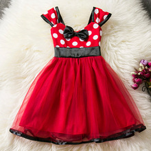 Baby Girls Summer Minnie Mouse Tutu Dress Kids Solid Children's Princess Party Cartoon Dresses Christmas Holloween Costume(China)
