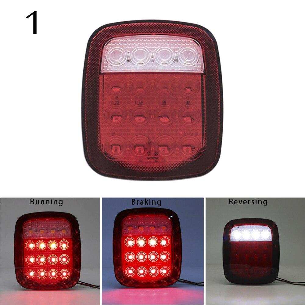 Pair LED Taillight Rear Back Bumper Light Parking Back up Reverse Brake Tail Light Lamp 2007~2016 For Jeep Wrangler JK (2)