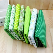 Green cheap diy felt cotton fabrics cloth dolls for sewing upholstery bag crafts printed material textile patchwork fabric tissu