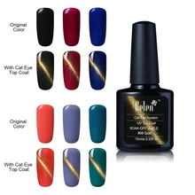 Belen 10ml Newest Popular Soak Off Cat Eye Top Coat Gel Polish 6 Colors Professional Gel Nail Polish Colurful Noble Vanish(China)