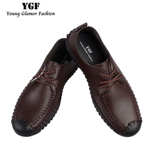 Buy YGF New Men's Loafers Genuine Leather Casual Style Shoes Lace-up Mens Soft Leather Loafers Handmade Vintage Male Moccasins for $22.61 in AliExpress store