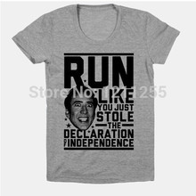 Run Like Nick Cage Men's T Shirt Short Sleeve Men Clothing Printed Customized T-Shirt Camisetas Men Tops Tees