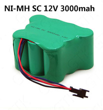 1pcs 12V 3000mAh NIMH battery pack 12v nimh battery Rechargeable SC Battery for Sweeping cleaning machine CEN82/800/810/830(China)