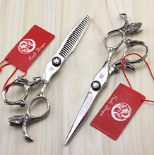 5.5 inch angel Japan Professional Barber Hairdressing Shears Hair Cutting Scissors Salon Equipment(China)