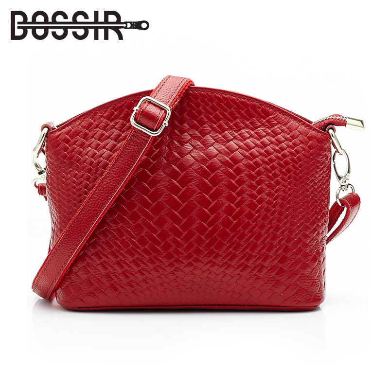 New Arrival Genuine Leather Crossbody Bag Women Messenger Bags with Knitting Pattern Fashion Shoulder Bags HB-449<br>