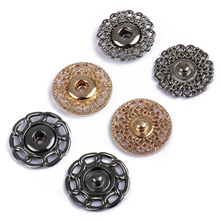 DoreenBeads 10Sets 25mm Metal Snap Buttons Flatback Button for Men Women Sweater Coat Bag Button DIY Craft Home Sewing Supplies(China)