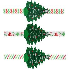Retail Baby Merry Christmas Tree Headband Fashion Children Girls Head Wear Elastic Hair Bands Accessories For Kids C1