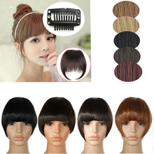 One Piece Short Clip in Bangs For Women Hot Style Bangs Clip in Clip on Neat Bang Cute Female Fringe Hair Fashion Ladies Student
