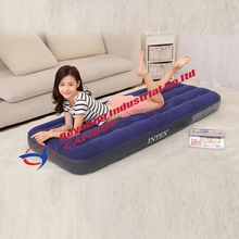 INTEX 68950 classic downy small size inflatable single bed for inhome and outdoor camping use,single person inflatable bed