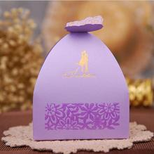 100pcs Romantic 3D Butterfly Wedding Invitation Cards Mariage Candy Box Birthday Greeting Box Wedding Decoration Favor Candy Box(China)
