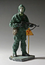 Free Shipping 1/16 Scale Unpainted Resin Figure Soviet anti-chemical soldier 120mm(China)