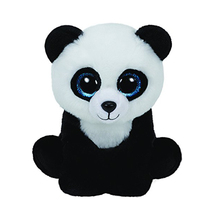 "Ty Beanie Babies 6"" 15cm Ming the Panda Bear Plush Stuffed Animal Collectible Soft Doll Toy"