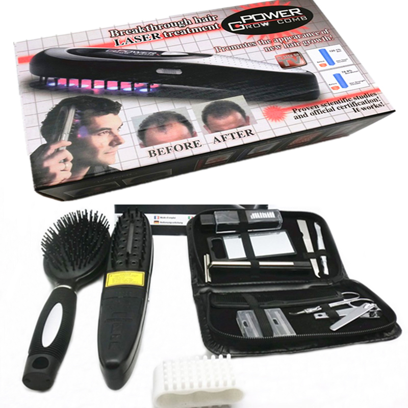 Laser Comb Head Massager Hair Growth Comb Massage Brushes Head Pain Relife Relaxation Vibrating Infrared Laser Hair Cure <br>