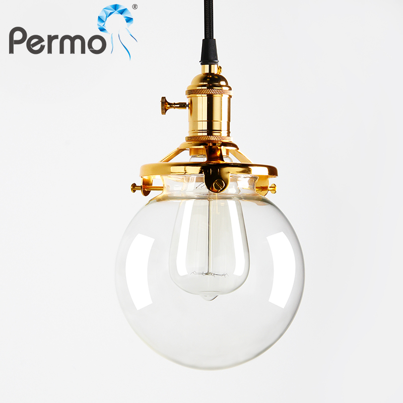 PERMO 5.9 Retro Clear Glass Pendant Lights Kitchen Pendant Ceiling Lamps Modern E27 Hanglamp Luminaire Lights Fixture<br>