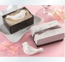 "50 PCS Free Shipping Bridal Return Gifts White ""Love birds"" Scented Soap Favors"