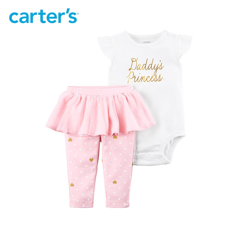 2 pcs Flutter manches Body & Tutu Pantalon vêtements Ensemble de Carter bébé Fille Printemps Été 121I361 11