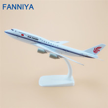 20cm Metal Plane Model Air China Airlines Boeing 747 B747 Airplane Model Airways w Stand Aircraft Kids Gift(China)