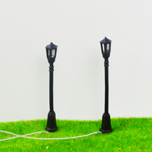 Teraysun Architectural Model Lamppost Street Lights 50pcs/lot Ho Scale 1:75-200 model train railway layout light(China)