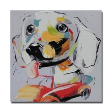 Funny Dog Drive Car  Wall Painting  Modern Decoration Wall Art Bedroom Decor Pictures High Quality Abstract Animal  Oil Painting
