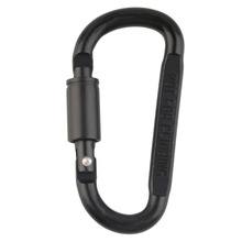1pc Sports Camping Hiking Black Carabiner Aluminum Alloy Carabiner D Ring Keychain Clip Hook Buckle Snap Travel Kits Accessories