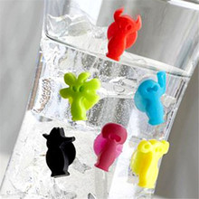 12pcs/set Party Dedicated Suction cup Wine Glass Silicone Label Rubber Wine glasses Marker Wine Accessories IC872494