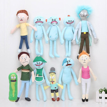 17-30cm Rick and Morty plush toys Happy Sad Foamy Meeseeks Stuffed Plush Toys Dolls Mr. Poopybutthole Mr. Meeseeks stuffed toy(China)