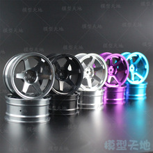 4pcs 1/10 On-Road Drift Car 52MM Aluminum Alloy Metal Wheel Hub 1.9Inch Climb Car Wheel Rim For HSP Tamiya HPI Kyosho Sakura 110