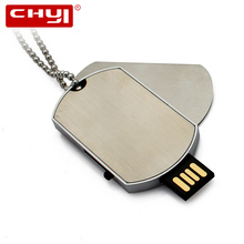 CHYI Necklace Military Dog Tag Shape USB Flash Drive Pendrive Memory Stick Disk Pen Driver 4GB 8GB 16GB 32GB 64GB Christmas Gift