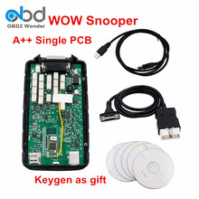 Lower Rate Single Green PCB Wow Snooper V5.008 R2 Car Trucks Diagnostic Tool Free Activate Free Send Keygen High Quality(China)