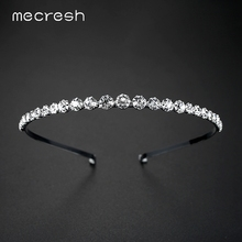 Mecresh Rhinestone Beads Wedding Hair Accessories Hairbands Crystal Bridal Hair Combs Wedding Jewelry Christmas Gift TS001(China)