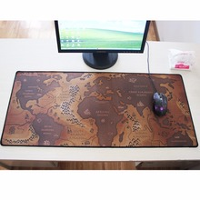 2017 hot sale 900x400mm old world map large mouse pad non-skid non-slip laptop table mouse mat for computer gamer players(China)