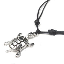 2016 Cheap Ladies Vintage tortoise Necklace Jewelry Adjustable Knot Wax Cord Necklaces  Jewelry Gift For Female HN0058