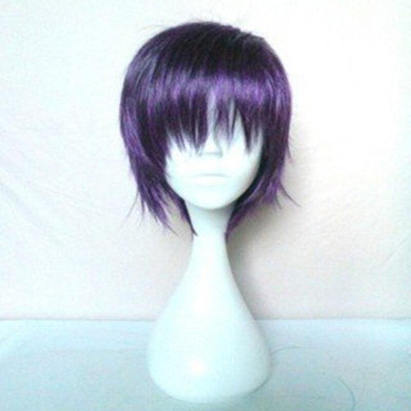 HAIRJOY Anime Noragami Yato Cosplay Wig Purple Short 35cm Heat resistance Fibre Hair  Wig <br><br>Aliexpress