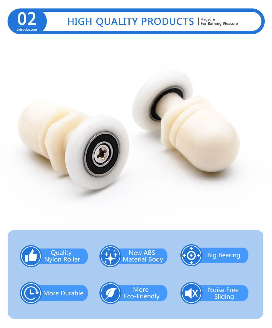 Antrader 6-Pack 1 Nylon Partiality Glass Bearing Rollers for Sliding Door Pulley Wheels Runner Shower Cabin Spa Room