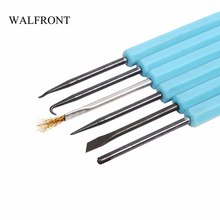 Buy WALFRONT 6Pcs Steel Solder Assist Repair Tool Set Electronic Components Welding Grinding Cleaning Repairing Tools for $2.93 in AliExpress store