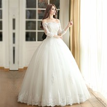 Cheap White Tulle Wedding Dresses 2016 Vintage Tank Appliques Wedding Dress  Alibaba China Vestidos De Novia a3fe6dc182c1