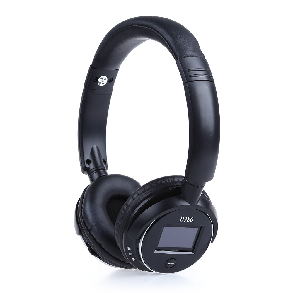 Zealot B380 Bluetooth headphone Wireless Headset Stereo Bluetooth V3.0 Headband Handsfree with LCD Music Player for Phone Tablet<br><br>Aliexpress