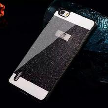 New Luxury Glitter Glam Plastic Cover Bling shining Crystal Capa Fundas Case for huawei p8 lite p7 honor 6 6X mobile Phone Case