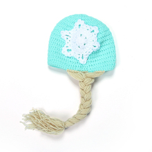 100 Days Newborn Baby Handmade Knitted All-match Mixed Color Wholesale Lovely Crochet Fashion Wig Braids Design Photo Props Caps